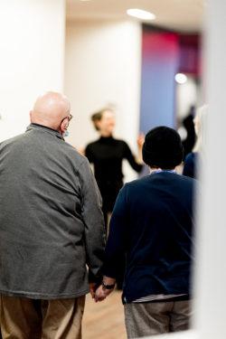 Participants at a dementia friendly tour