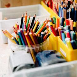 stiften en kleurpotloden