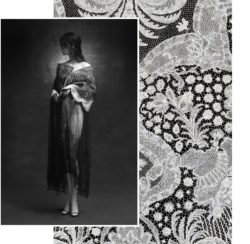 Left: Olivier Theyskens, A/W1998-1999, right: Brabant Bobbin Lace, MoMu Collection