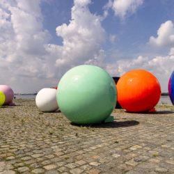 'Fashion Balls' installation at De Gerlachekaai, Antwerp