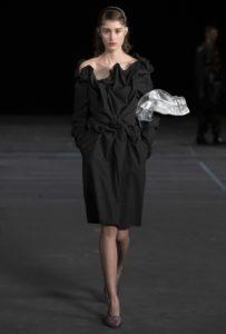 Catwalkimage of woman wearing black Y/Project dress