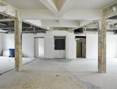 Exhibition room stripped down