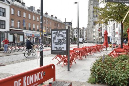 Billboard op Mechelsplein Antwerpen