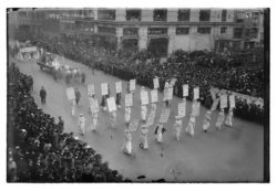 Suffragettes march on 23 Octobre 1915, New York City