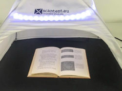 Een scantent om boeken te scannen