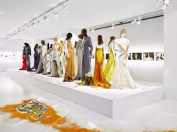 Scenography image of the exhibition: Nina Ricci designs by Olivier Theyskens
