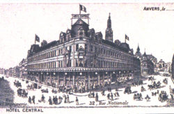Old image of the MoMu building in 1902 as Hotel Central