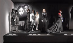 Scenography image of Olivier Theyskens exhibition with 7 silhouettes