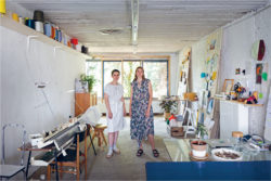 Laure Van Brempt & Vera Roggli in their atelier