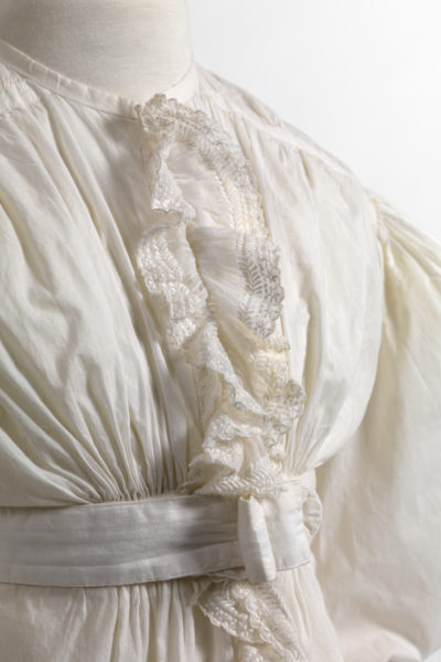 Detail from a negligee in cotton