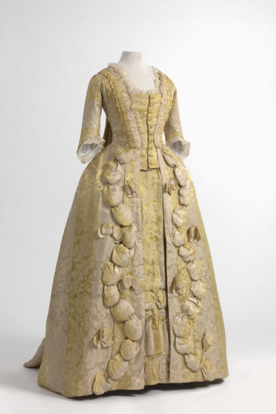 Robe à la française in Chinese silk damask