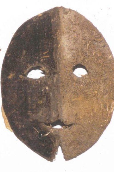Lederen masker als bescherming tegen de zon