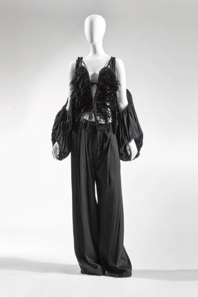 Black silhouette on mannequin