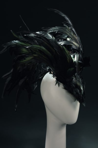 headpiece made from feathers
