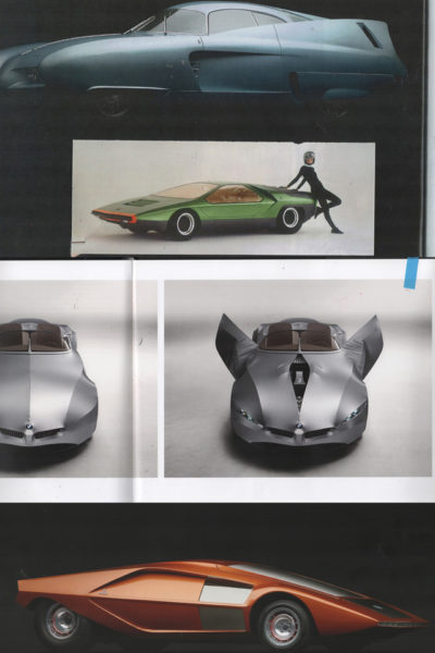 Collage of cars: Inspiration for Annemarie's collection